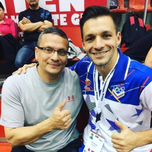 Sensei with Antonio Diaz, 2016 WKF World Champion, Kata